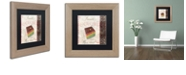 "Trademark Global Color Bakery 'Patisserie Xiv' Matted Framed Art, 11"" x 11"""