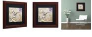 "Trademark Global Color Bakery 'Winged Tapestry Iv' Matted Framed Art, 11"" x 11"""