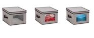 """Honey Can Do 12"""" x 12"""" Window Storage Box, Gray"""