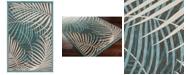 """Surya Portera PRT-1062 Teal 3'9"""" x 5'8"""" Area Rug, Indoor/Outdoor"""