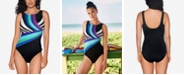 Reebok Retro Lines One-Piece Swimsuit