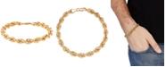 Italian Gold Rope Chain Bracelet in 10k Gold