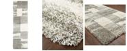 """Oriental Weavers Henderson Shag 5502H Ivory/Gray 2'3"""" x 7'6"""" Runner Area Rug"""