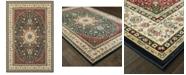 """Oriental Weavers Kashan 119U Navy/Ivory 6'7"""" x 9'6"""" Area Rug"""