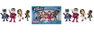 """DC Comics NJ Croce ACTION BENDALBES 4 Piece Justice League 4"""" Set"""