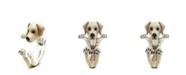 Dog Fever Labrador Retriever Hug Ring in Sterling Silver and Enamel