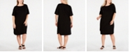 Eileen Fisher Plus Size Boat-Neck Dress