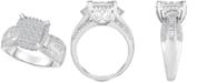 Macy's Diamond Multi-Shaped Stone Bridal Ring (1 ct. t.w.) in 14k White Gold