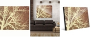 "Creative Gallery Tree Silhouette on Brown 16"" x 20"" Acrylic Wall Art Print"