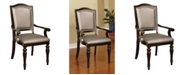 Furniture of America Raab Dark Walnut Armchair (Set of 2)