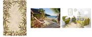 """Kas Harbor Nature 4225 Sand 5' x 7'6"""" Indoor/Outdoor Area Rug"""