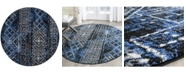 Safavieh Adirondack Silver and Black 6' x 6' Round Area Rug