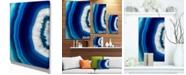 "Design Art Designart Blue Agate Crystal Abstract Canvas Art Print - 12"" X 20"""