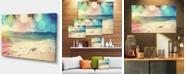 "Design Art Designart Colorful Serenity Tropical Beach Large Seashore Canvas Print - 32"" X 16"""