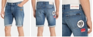 "Calvin Klein Jeans Men's Slim-Fit Patch Denim 9"" Shorts"