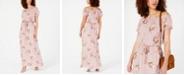 City Studios Juniors' Off-The-Shoulder Floral Maxi Dress