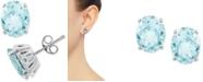 Macy's Aquamarine Stud Earrings (3 ct. t.w.) in 14k White Gold