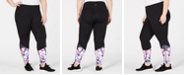 Ideology Plus Size Floral Ankle Leggings, Created for Macy's