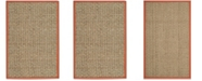 Safavieh Natural Fiber Natural and Rust 3' x 5' Sisal Weave Area Rug
