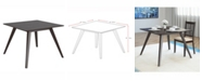 """Corliving Distribution CorLiving Stained 42"""" Square Dining Table"""