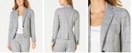 Nine West Plaid Single-Button Blazer
