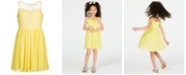 Epic Threads Big Girls Floral Embroidered Dress, Created for Macy's