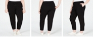 Eileen Fisher Plus Size Cotton Drawstring Ankle Pants