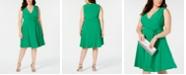 Jessica Howard Plus Size Surplice Wrap Dress