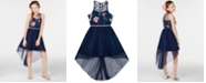 Rare Editions Big Girls Embroidered High-Low Hem Dress, Created for Macy's