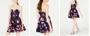 B Darlin Juniors' Strapless Fit & Flare Dress, Created for Macy's