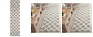 """Safavieh Dallas Grey and Ivory 2'3"""" x 8' Runner Area Rug"""
