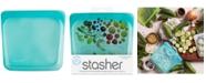 Stasher Stasherbag Reusable Sandwich Bag, Aqua