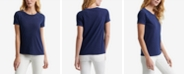 Lucky Brand Cotton Embroidered Eyelet T-Shirt