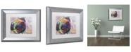 """Trademark Global Dean Russo 'Pug Love' Matted Framed Art - 14"""" x 11"""" x 0.5"""""""