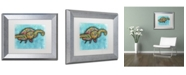 "Trademark Global Dean Russo 'Turtle' Matted Framed Art - 14"" x 11"" x 0.5"""