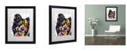 "Trademark Global Dean Russo 'Border Collie' Matted Framed Art - 16"" x 20"" x 0.5"""