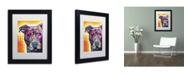 """Trademark Global Dean Russo 'Heart U Pit Bull' Matted Framed Art - 11"""" x 14"""" x 0.5"""""""