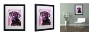 "Trademark Global Dean Russo 'Black Lab' Matted Framed Art - 16"" x 20"" x 0.5"""