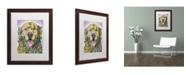 """Trademark Global Dean Russo 'Silence Is Golden' Matted Framed Art - 20"""" x 16"""" x 0.5"""""""