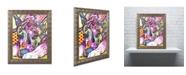 """Trademark Global Dean Russo 'Lying Dane' Ornate Framed Art - 20"""" x 16"""" x 0.5"""""""