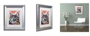 """Trademark Global Dean Russo 'Curious Cat' Matted Framed Art - 14"""" x 11"""" x 0.5"""""""