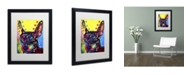 """Trademark Global Dean Russo 'Miniature Pinscher' Matted Framed Art - 16"""" x 20"""" x 0.5"""""""