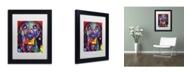 """Trademark Global Dean Russo 'Basset II' Matted Framed Art - 11"""" x 14"""" x 0.5"""""""