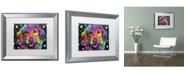 """Trademark Global Dean Russo 'Golden Retriever II' Matted Framed Art - 20"""" x 16"""" x 0.5"""""""