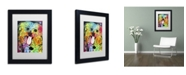 "Trademark Global Dean Russo 'Shih Tzu' Matted Framed Art - 11"" x 14"" x 0.5"""