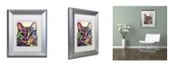"""Trademark Global Dean Russo 'Maya Cat' Matted Framed Art - 14"""" x 11"""" x 0.5"""""""