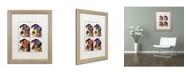 """Trademark Global Dean Russo '4 Danes' Matted Framed Art - 20"""" x 16"""" x 0.5"""""""