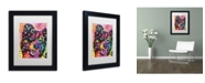 "Trademark Global Dean Russo 'Border Collie 121109' Matted Framed Art - 11"" x 14"" x 0.5"""