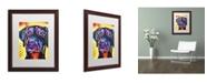 "Trademark Global Dean Russo 'Dobie' Matted Framed Art - 20"" x 16"" x 0.5"""
