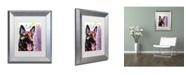"Trademark Global Dean Russo 'German Shepherd II' Matted Framed Art - 14"" x 11"" x 0.5"""